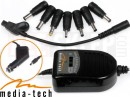 Media-Tech CAR UNIVERSAL POWER ADAPTOR 12V MT6250